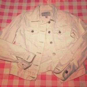 Old Navy || white denim jacket